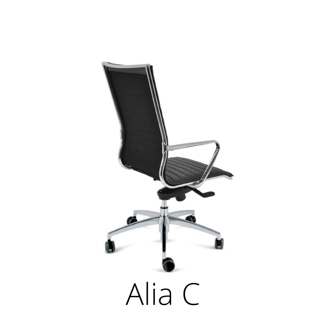 Alia C+, professional chair, black.